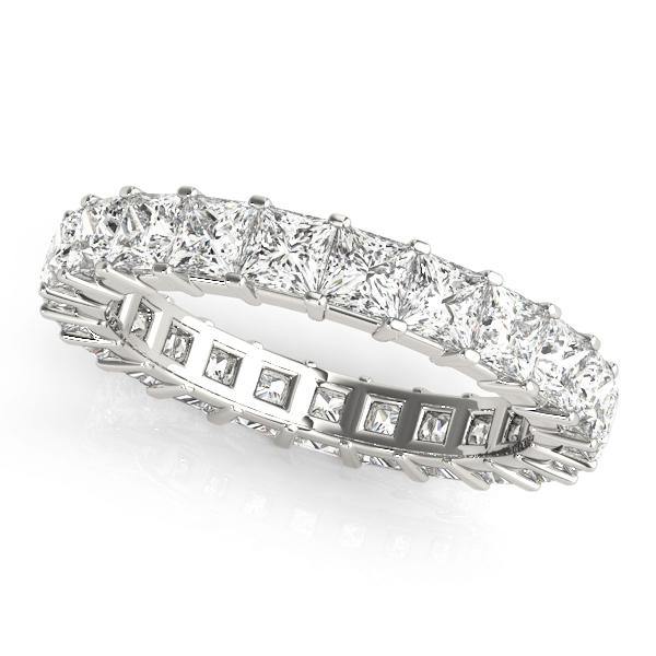 Mutual Prong Princess Diamond Eternity Band 1.58 Ct
