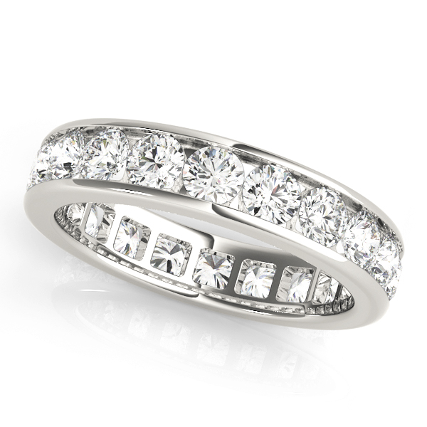 Channel Diamond Eternity Band 5.25 Ct Platinum