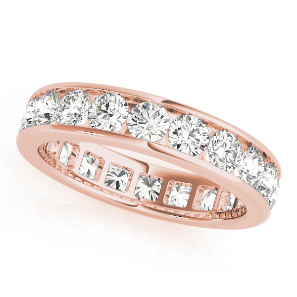 Channel Diamond Eternity Band 4 Ct Rose Gold