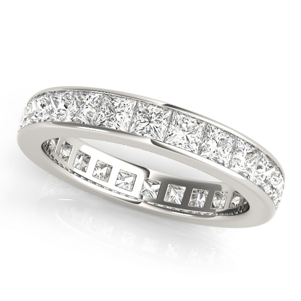 Channel Set Princess Diamond Eternity Band 3.48 Ct