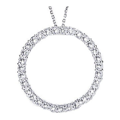 Circle of love necklaces and pendants from mdc diamonds nyc circle of love diamond pendant 200 tcw in14 karat white gold aloadofball Images
