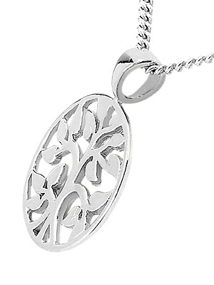 Tree Of Life Pendant in 14k White Gold