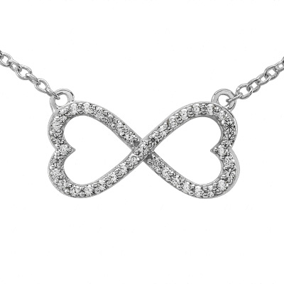 Infinite love necklaces and pendants from mdc diamonds nyc heart shape infinity pendant aloadofball Image collections