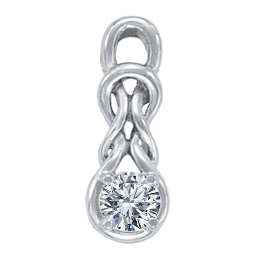Double Knot Solitaire Pendant, 0.50ct