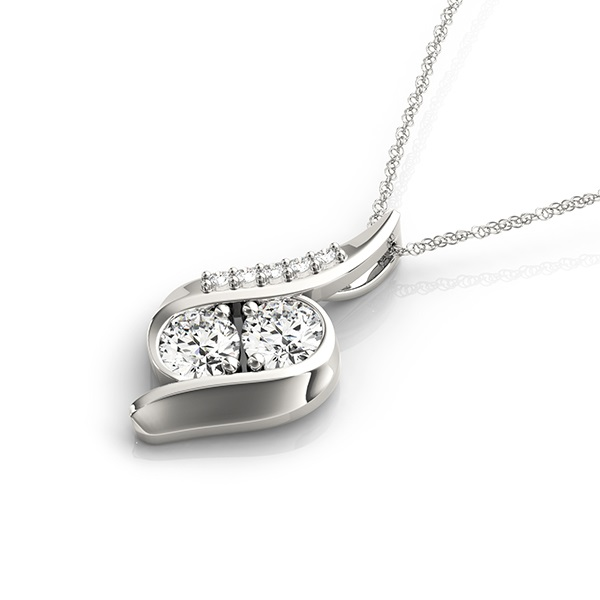 Duo Siren Mermaid Diamond Pendant, 0.71 tcw.