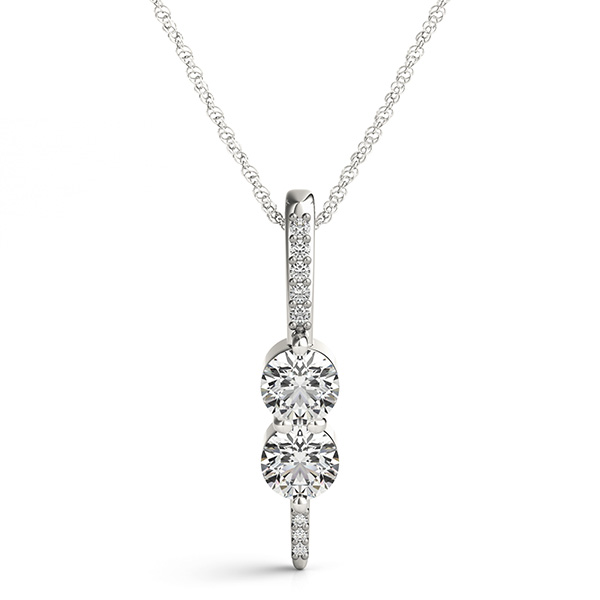 Duo Diamond Pave Pendant, 0.64 tcw.