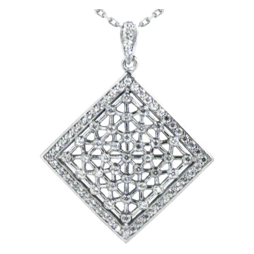 Diamond Web Pendant 0.47 tcw. In 14 Karat White Gold