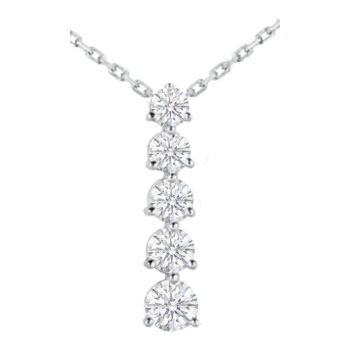 Necklaces and pendants journey 5 diamond drop pendant in 14 journey 5 diamond drop pendant in 14 karat white gold 125 tcw aloadofball Gallery