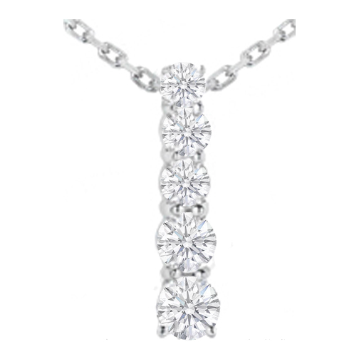 Necklaces and pendants journey 5 diamond drop pendant in 14 journey 5 diamond drop pendant in 14 karat white gold 200 tcw aloadofball Images