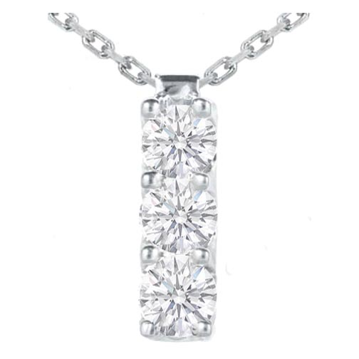 Necklaces and pendants 3 stone diamond drop pendant 030 tcw in 3 stone diamond drop pendant 030 tcw in 14 karat white gold aloadofball Choice Image