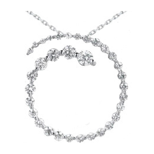 Necklaces and pendants journey circle of love 33 diamond open journey circle of love 33 diamond open overlapping pendant in 14 karat white gold aloadofball Images