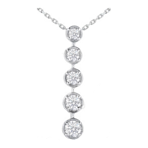 Necklaces and pendants journey 5 diamond drop pendant in 14 journey 5 diamond drop pendant in 14 karat white gold 050 tcw aloadofball Choice Image