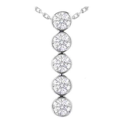 Necklaces and pendants journey 5 diamond drop pendant in 14 journey 5 diamond drop pendant in 14 karat white gold 175 tcw aloadofball Gallery