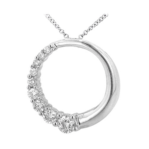 Necklaces and pendants journey circle of love 9 round diamonds journey circle of love 9 round diamonds pendant in 14 karat gold 150 tcw aloadofball Choice Image