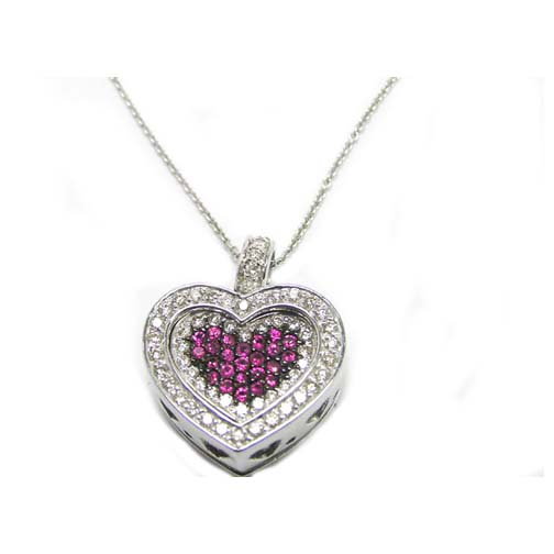 htm diamond heart p locket gold necklace white