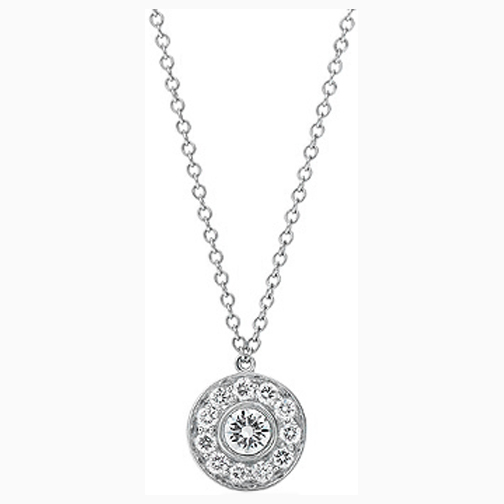 Circle of Love Diamond Pendant 0.30 tcw. In 14 Karat White Gold