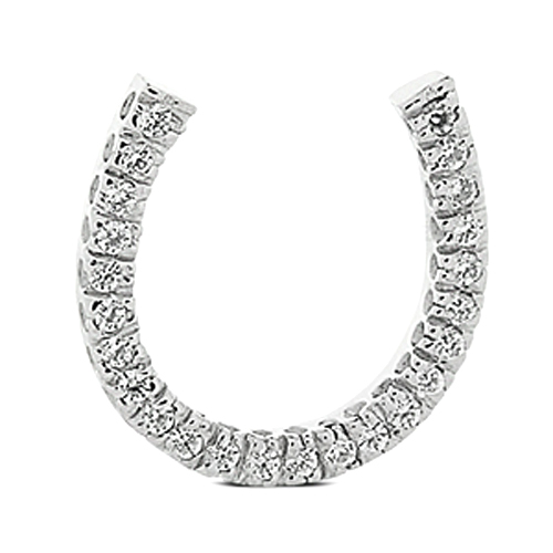 0.36 Carat Diamond Horseshoe Pendant in White Gold