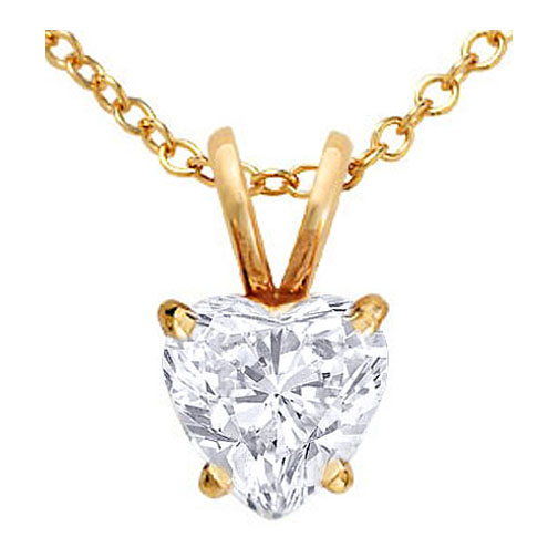 Necklaces and pendants heart shape diamond pendant necklace 070 heart shape diamond pendant necklace 070 carat in 14 karat yellow gold aloadofball Images