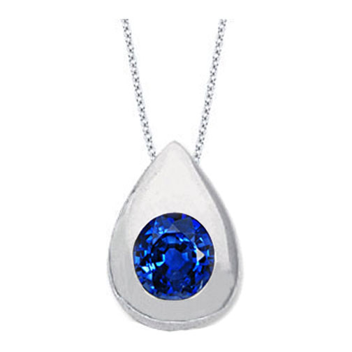 Necklaces and pendants solitaire round blue sapphire pendant 035 necklaces and pendants solitaire round blue sapphire pendant 035 carat tear drop shape bezel 14 karat white gold pd48bs aloadofball Gallery