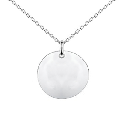 Necklaces and pendants script round disc initial t engraved in a 0000 aloadofball Images