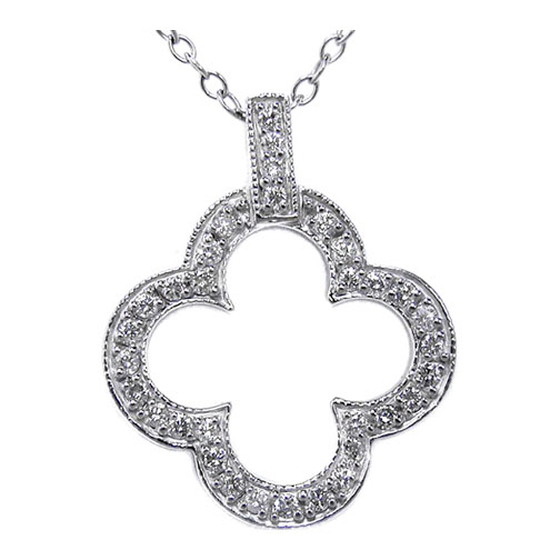 Diamond Flower Pendant 0.33 Carat tw