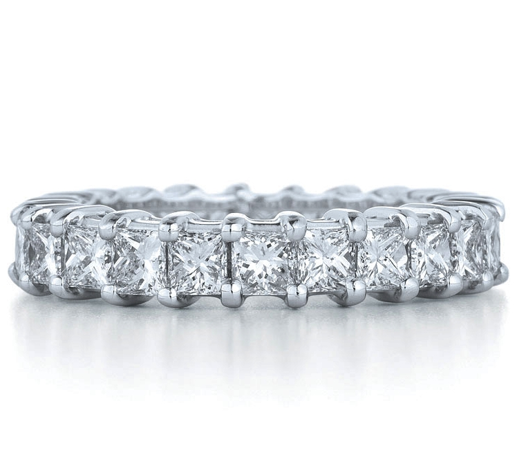 Princess Diamond Eternity All around Ring G-H 1.50 tcw.
