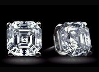 Asscher Cut Diamond Stud Earrings 1.00 tcw. VS