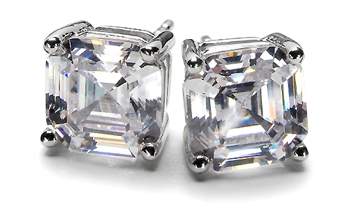 Earrings Princess Cut