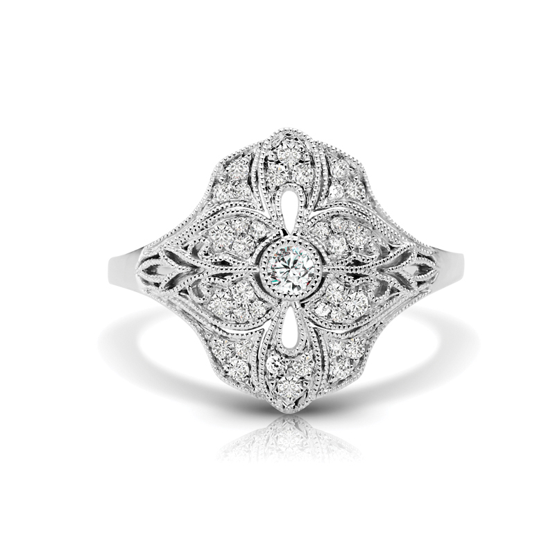 Art Deco Inspired Diamond Fashion Ring