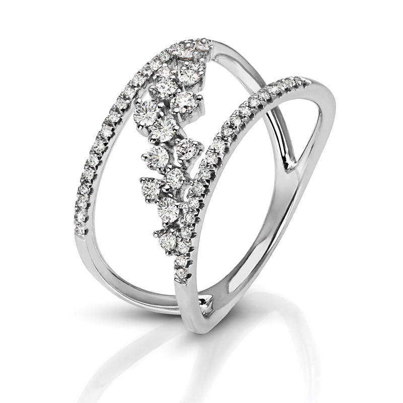 Abstract Diagonal Vine Diamond Band
