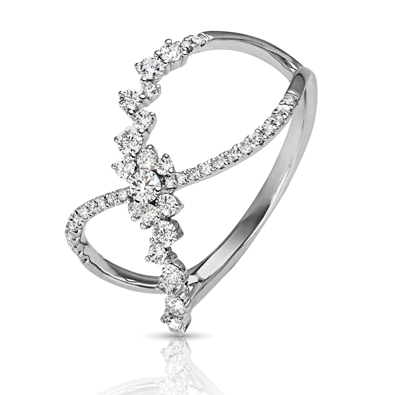 Abstract Criss-Cross Diamond Band