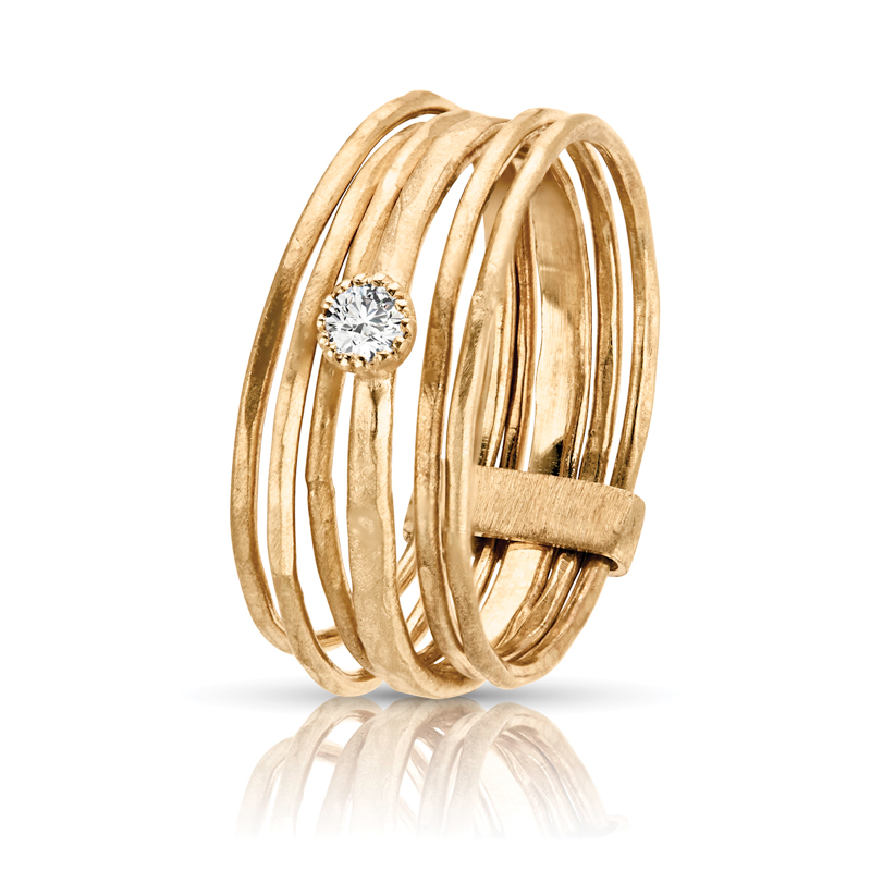 Stackable Bands with Diamond Accent