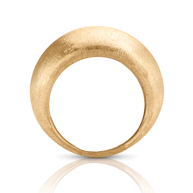 Wide Tapered Dome Ring in Gold