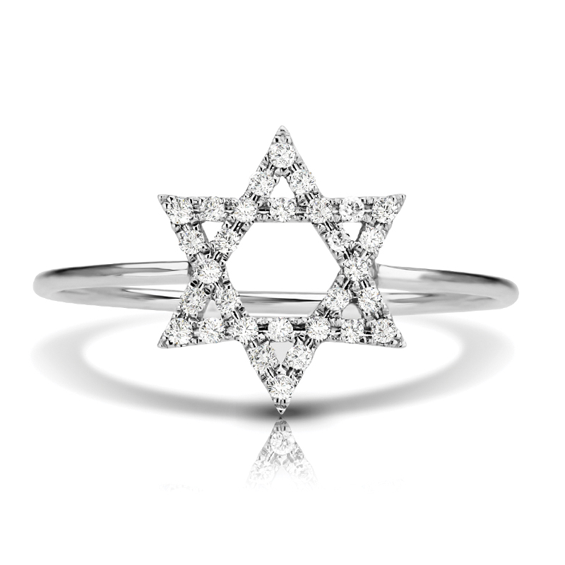 Petite Star Diamond Ring, Star of David