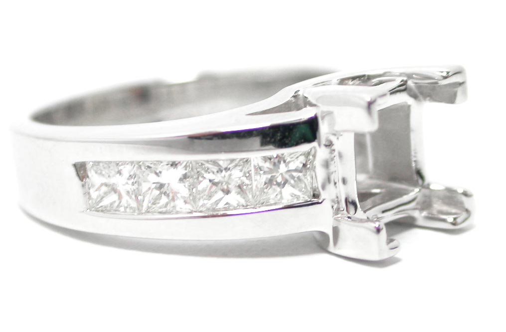 engagement ring princess cut trellis engagement