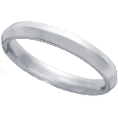 Knife Edge Wedding Ring in Platinum (3 mm)