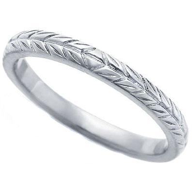 Wedding Band 14K White Gold 2 3 mm Engraved Wedding Ring