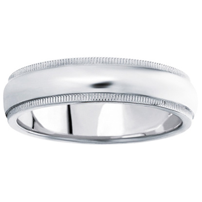 Comfort-Fit Wedding Ring in 14K White Gold (7 mm)