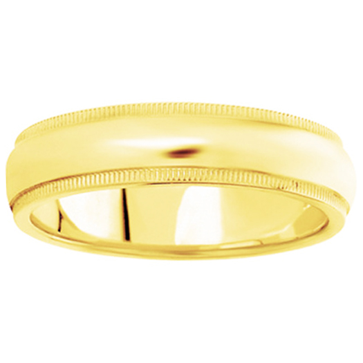Comfort-Fit Wedding Ring in 18 Karat Yellow Gold (6 mm)