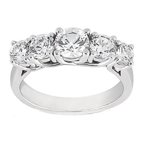 wedding band five stone trellis diamond wedding ring tcw in