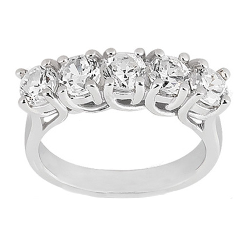 Wedding Band Five Stone Trellis Diamond Wedding Ring 0