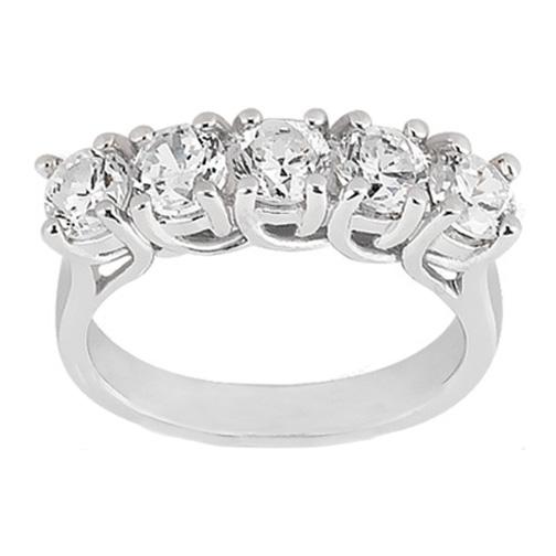 five stone trellis diamond wedding ring 050 tcw
