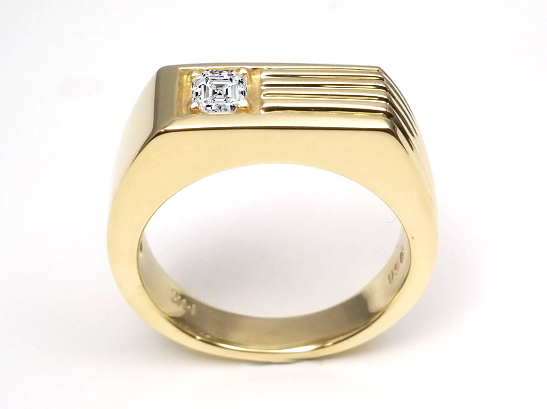 Asscher - Wedding Bands from MDC Diamonds