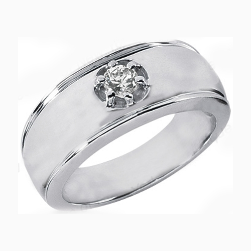 Diamond solitaire wedding bands