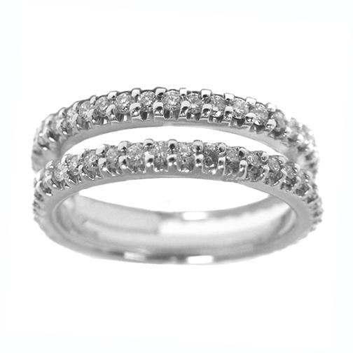 Round Diamond Split Wedding Band 0 60 Tcw