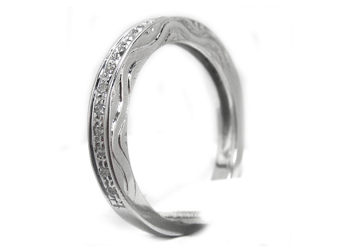 Round Diamond Wedding Band 0.22 tcw. In 14K White Gold