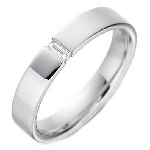 men wedding ring baguette