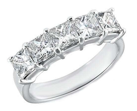 wedding band five stone princess cut diamond wedding band 350 tcw - Princess Cut Diamond Wedding Ring