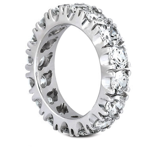 Round Diamond Eternity Ring U prongs