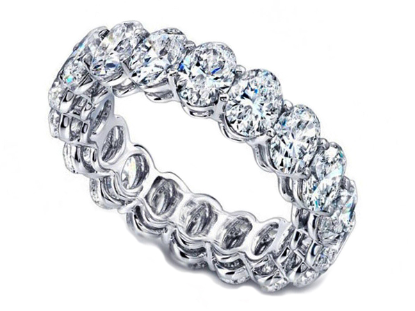 Oval Diamond Eternity Band 3.60  Carat Total Weight